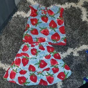 Gymboree strawberry set🍓